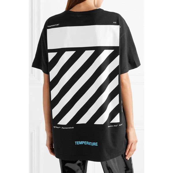 Oversized Printed Cotton-jersey T-shirt Off-white Clearance New Arrival jc30ZiR