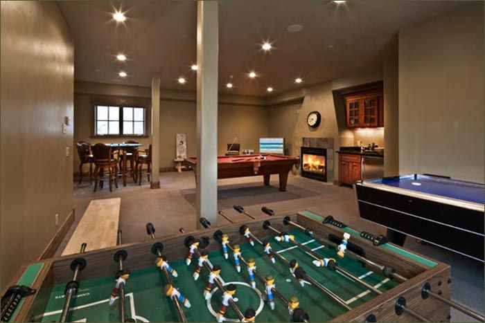 home recreation rooms gorgeous slopeside home features a