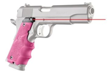 Hogue Laser Equipped Grips For 1911 Government Models Pink - Red Laser 1H-LS-45087