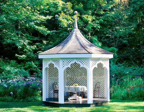 Connecticut Farmhouse | Gardens, Garden Gazebo And Lattices