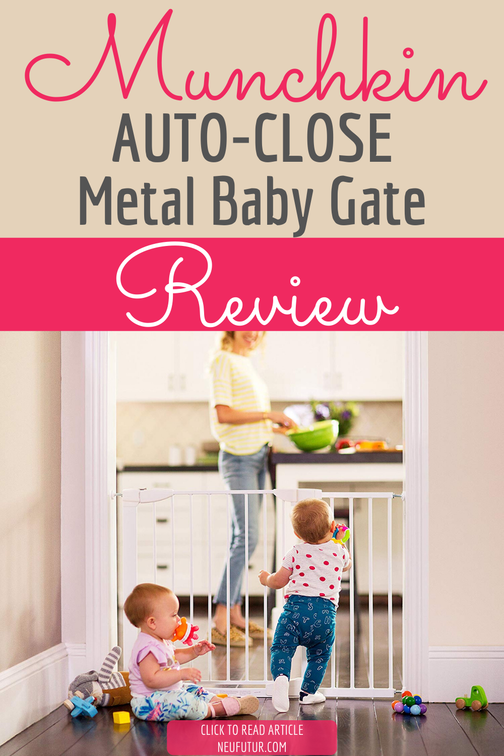 Munchkin Auto Close Metal Gate (With images) Metal baby