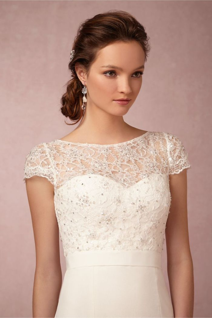 Cap Sleeve Lace Topper By Jenny Yoo At Bhldn