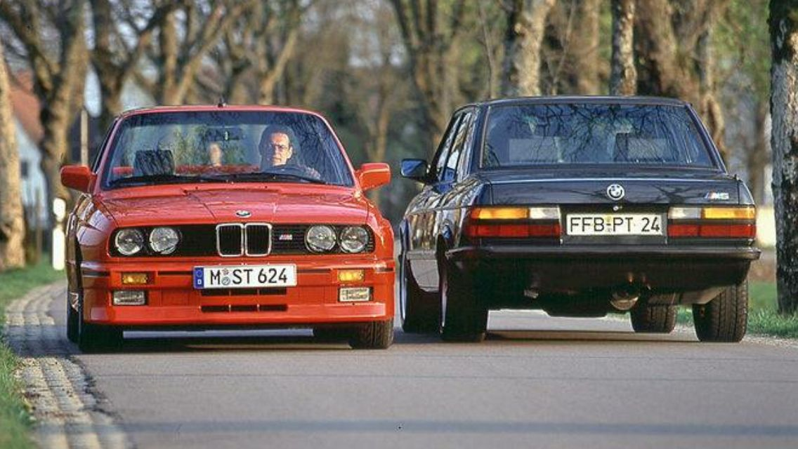 Father and son BMW M3 and M5