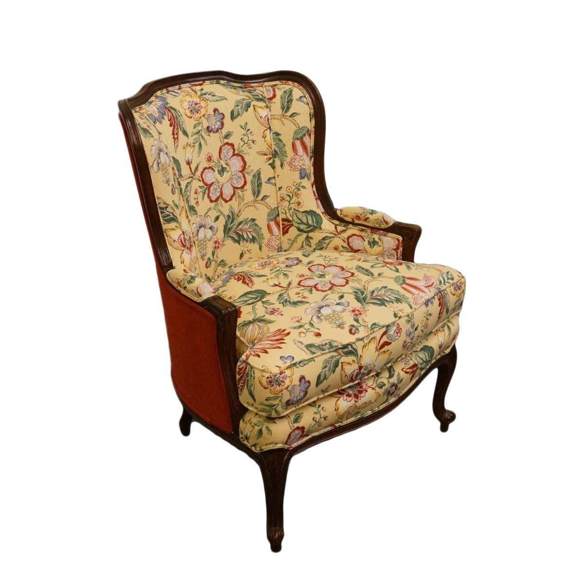 Best 20Th Century French Ethan Allen Wingback Accent Chair For 400 x 300