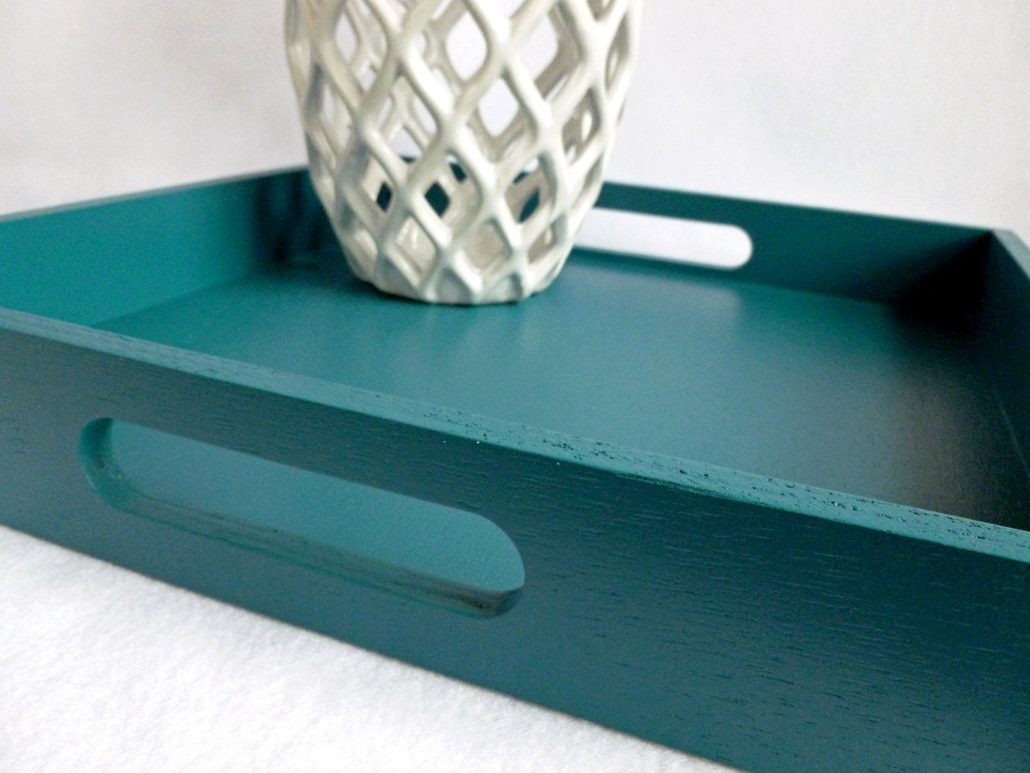 Ottoman Trays Home Decor Inspiration Teal Blue 16 X 16 Wood Square Serving Tray Home Decor For Coffee Inspiration Design