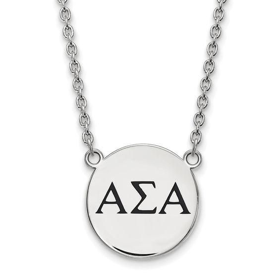 Zales Alpha Xi Delta Sorority Drop Earrings in Sterling Silver pQ1cRg