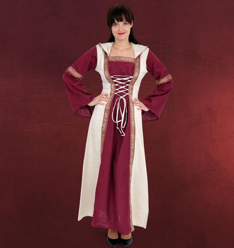 Mittelalter Kleidung Frauen Saphiria Mittelalter Kleid Bordeaux