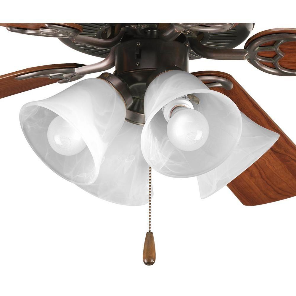 Progress Lighting Fan Light Kits Collection 4 Light Antique Bronze Ceiling Fan Light Kit P2610 20wb Ceiling Fan Fan Light Kits Bronze Ceiling Fan