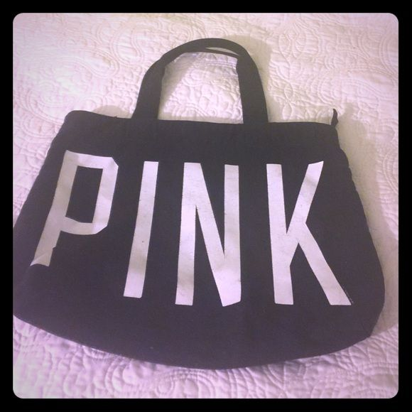 Pink bag Really good condition! Inside is perfect no rips or holes or stains just. Make an offer or bundle  PINK Victoria's Secret Bags