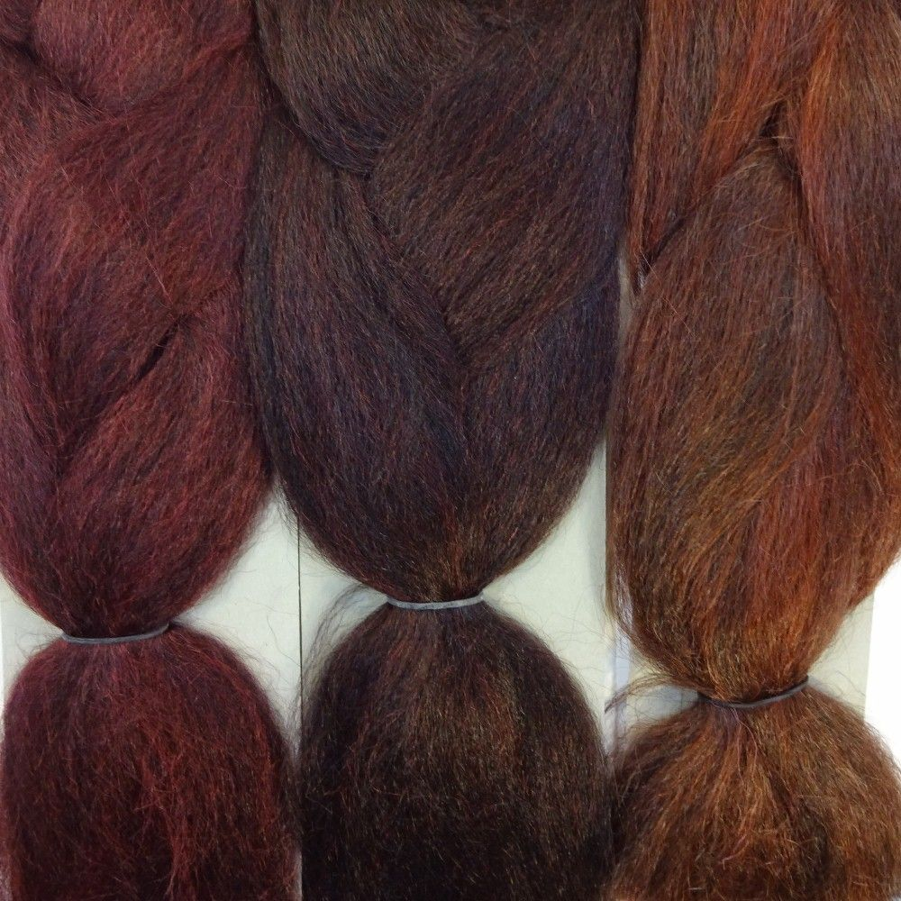 Kanekalon Color Comparison From Left To Right 1bbg Red Wine 99j