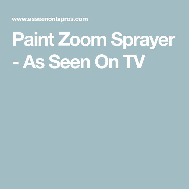Paint Zoom Sprayer As Seen On Tv See On Tv Vinyl Repair Sprayers