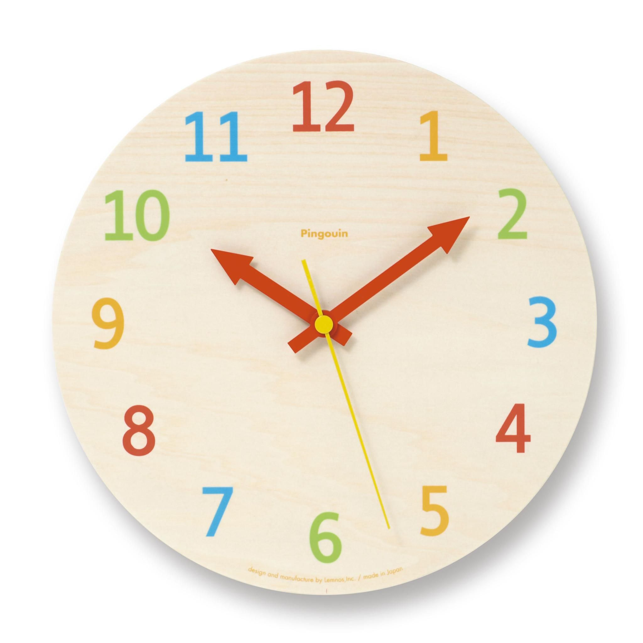 Pallette Morning Kids Clock  Childrens Clock  10 X