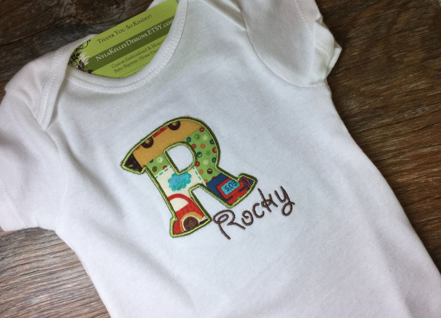 Embroidered Personalised Baby Sleeveless Bodysuit New