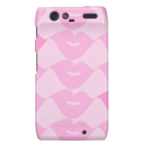 Pink Lips Motorola Droid RAZR Cases