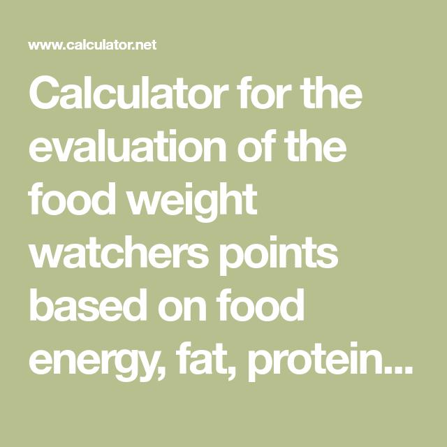 food fat calculator