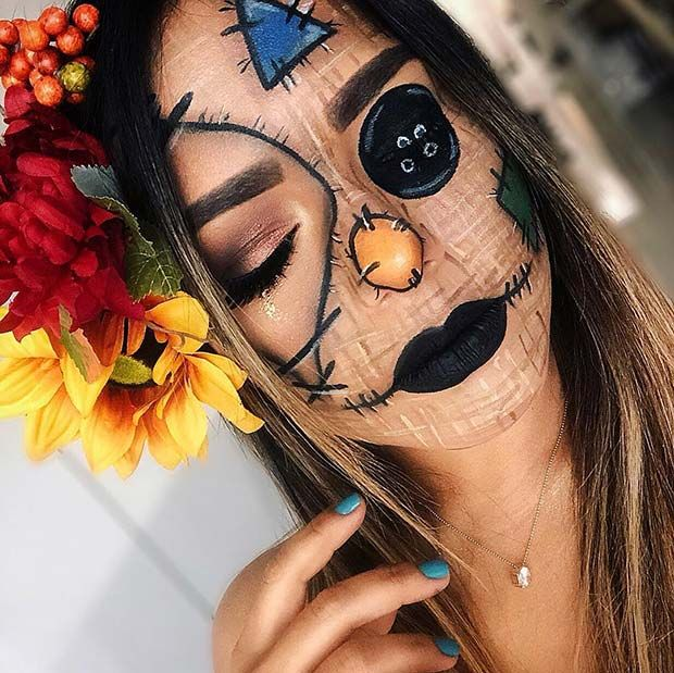 25 Scarecrow Makeup Ideas for Halloween | Page 2 of 2 | StayGlam