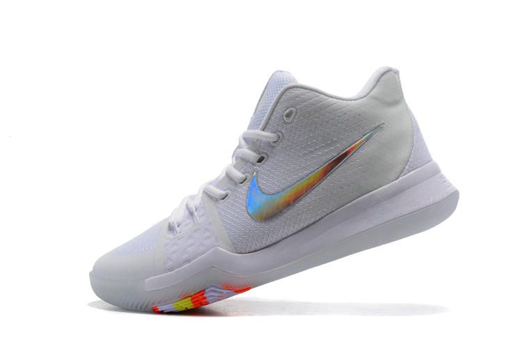 new style d35d7 14f7c Authentic Nike Kyrie 3 White Colorful