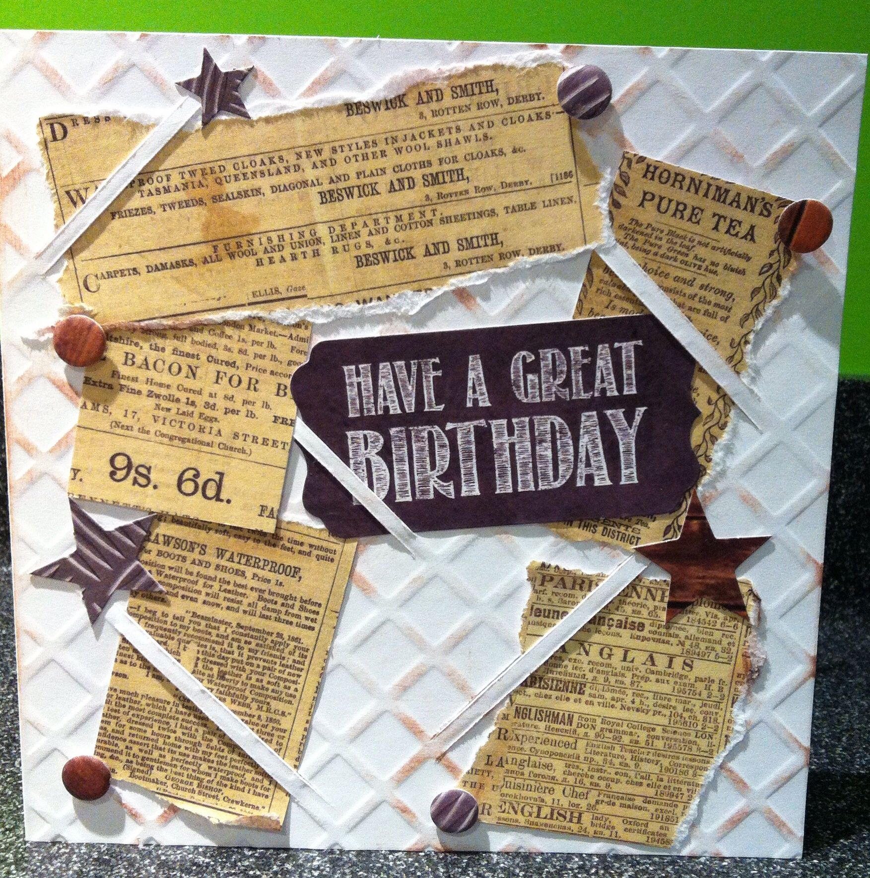 Card Making Male Ideas Part - 44: Craftwork Cards: Man Made