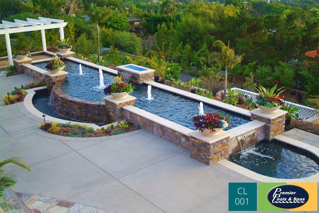 Custom Swimming Pool Fountain