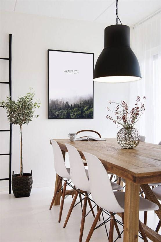 Scandinavian Minimal Poster Forest Photography Nature Prints Forest Wall Art Instant Downl Scandinavian Dining Room Dining Room Inspiration House Interior