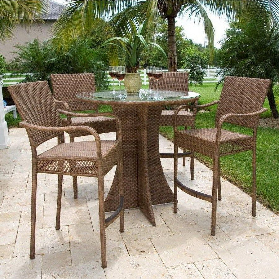 Patio table chairs tall images backyard patio ideas for Patio table set