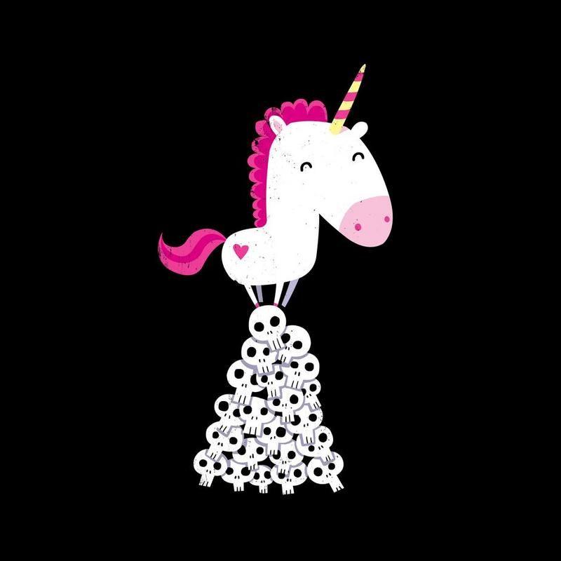 killer unicorn als acrylglasbild lustig in 2019. Black Bedroom Furniture Sets. Home Design Ideas