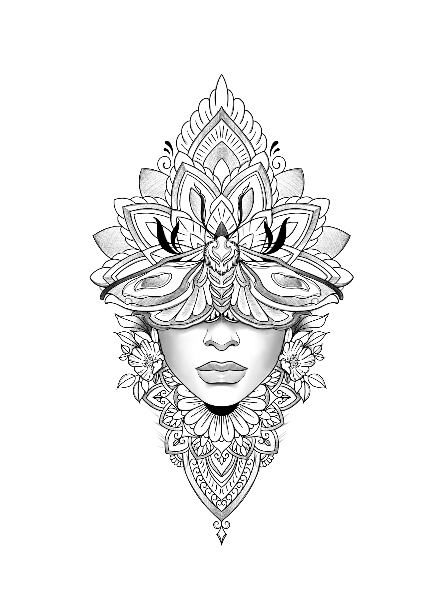 mandala tattoo stencil