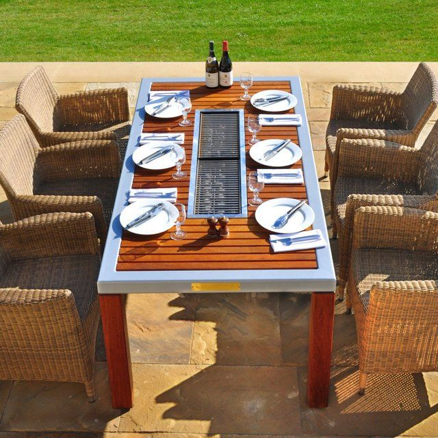 6 Seat Cole Henley Barbecue Table: Contains A Custom Designed Gas Fired  Barbecue; So