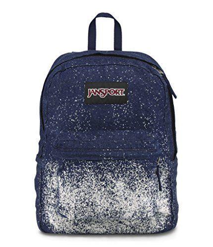 Cool Great Jansport Special Edition Superbreak Blue Denim Sparkle ...
