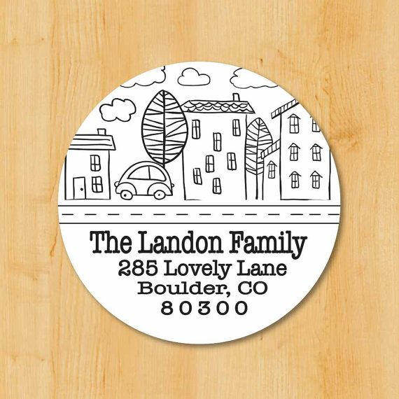 We moved stickers custom stickers personalized sticker round address label address sticker