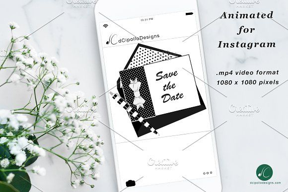 animated instagram bowtie save date by dcipollo designs on. Black Bedroom Furniture Sets. Home Design Ideas