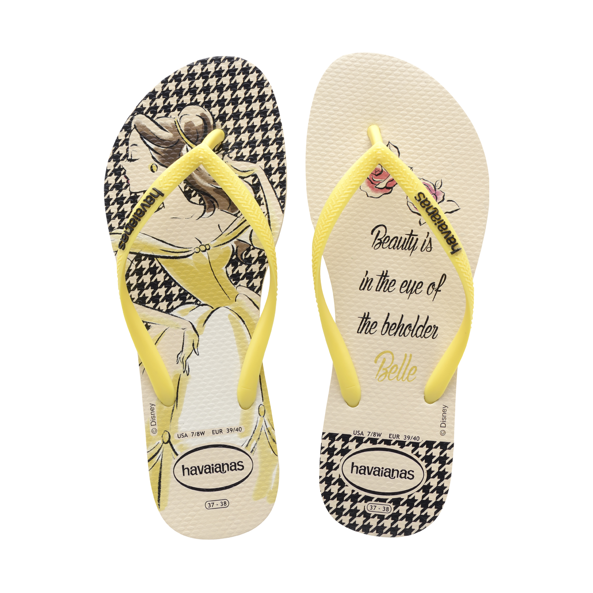 5fff16f52 Slim Princesas- Women s Beauty   The Beast Disney Flip Flops- Havaianas