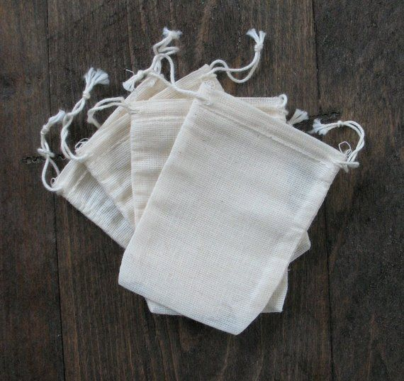 e99709582e3a 100 3.25x5 inch Double Drawstring Cotton Muslin Bags   Products ...