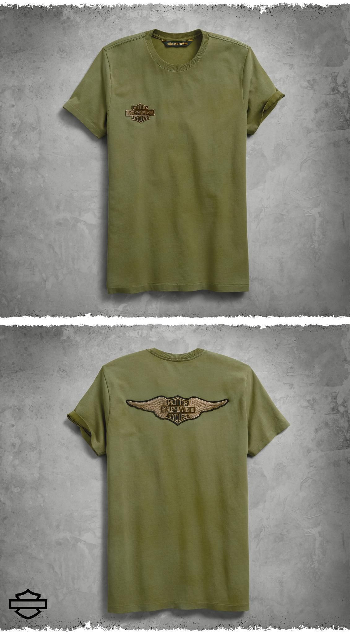 ROCK ANGEL Womens T-Shirt in Khaki with Fadings Green in Size Small