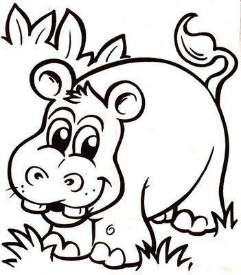 imagenes de animales de la selva para colorear   Dibujos