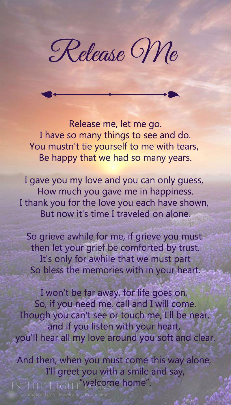 Memorial & Sympathy Quotations Poems & Verses