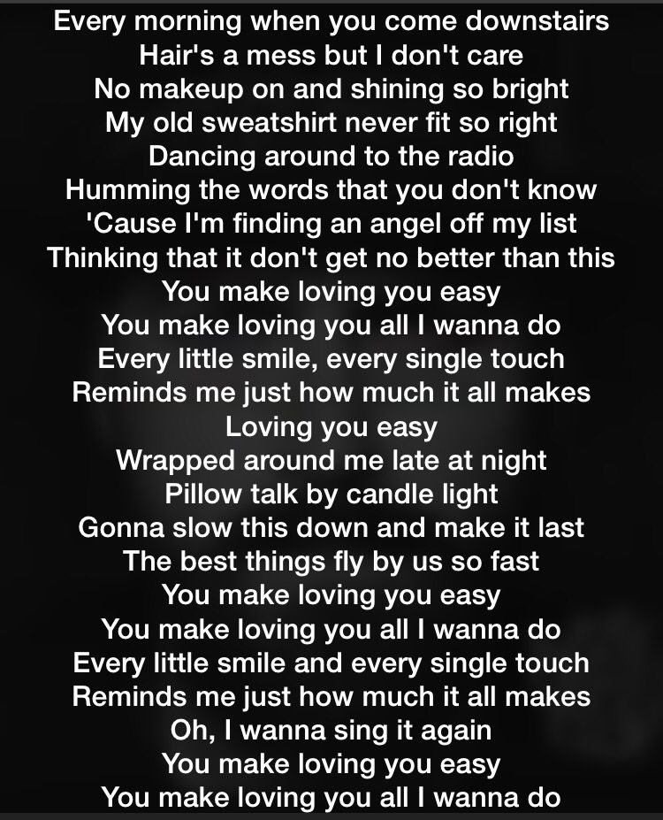 Lyric he wants it all lyrics : Loving You Easy - Zac Brown Band. This is my newest song for you ...