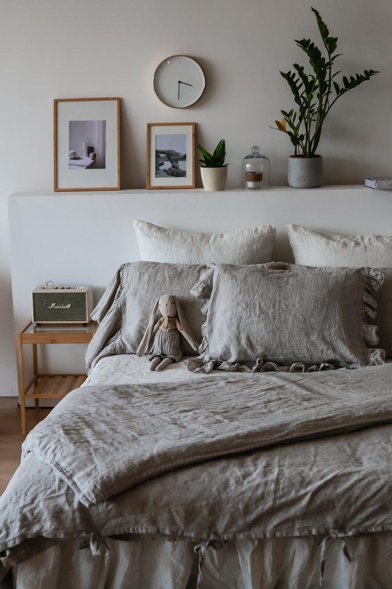 Rustic Rough Natural Linen Duvet Cover Quilt Cover Etsy Linen Duvet Covers Linen Duvet Cover King Linen Duvet