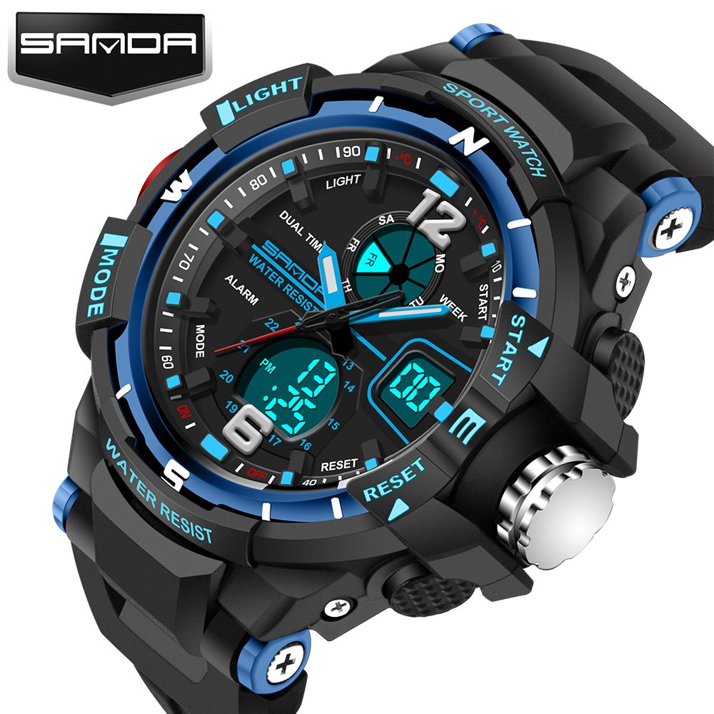 Efficient 2017 Waterproof Children Boy Digital Led Quartz Alarm Date Sports Wrist Watch Dropshipping Moderate Price Back To Search Resultswatches