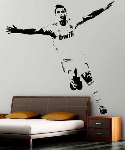 xxl cristiano ronaldo famous footballer real madrid wall sticker