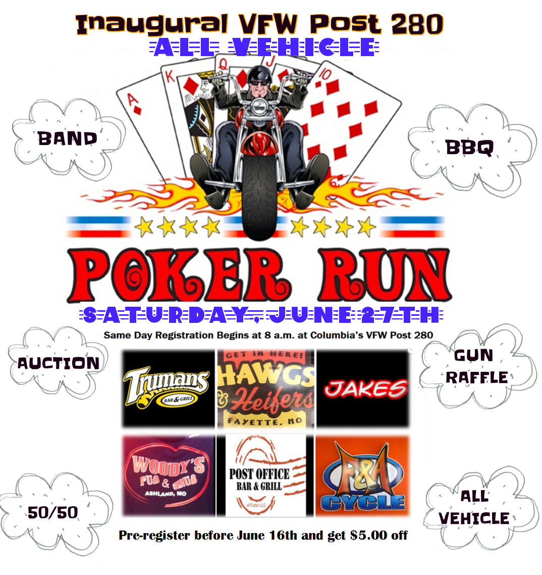The VFW Post 280 Inaugural Poker Run 2015 | Veterans