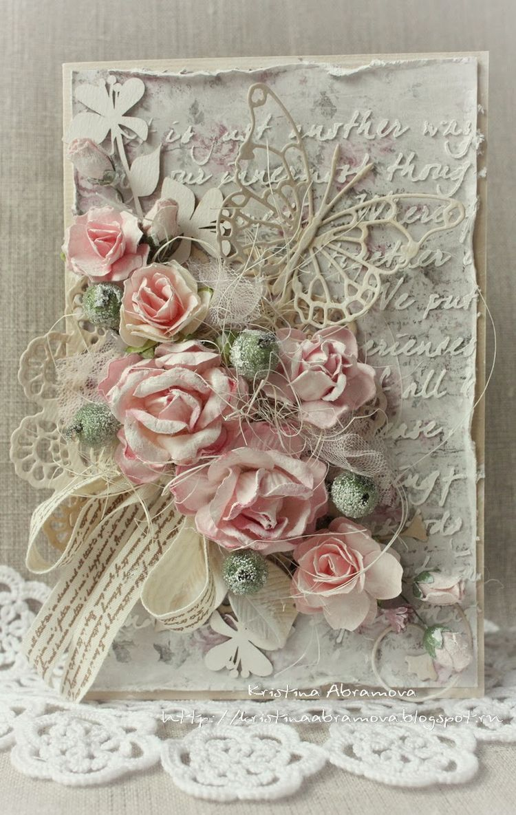 tarh decopage | Cards: Over the Top! | Shabby chic cards ...
