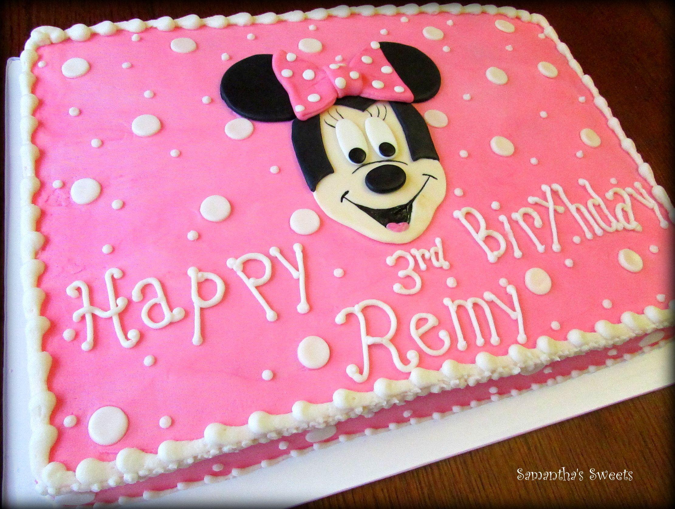 Superb Minnie Mouse Sheet Cake Tortas Para Ninos Decoracion De Unas Funny Birthday Cards Online Amentibdeldamsfinfo