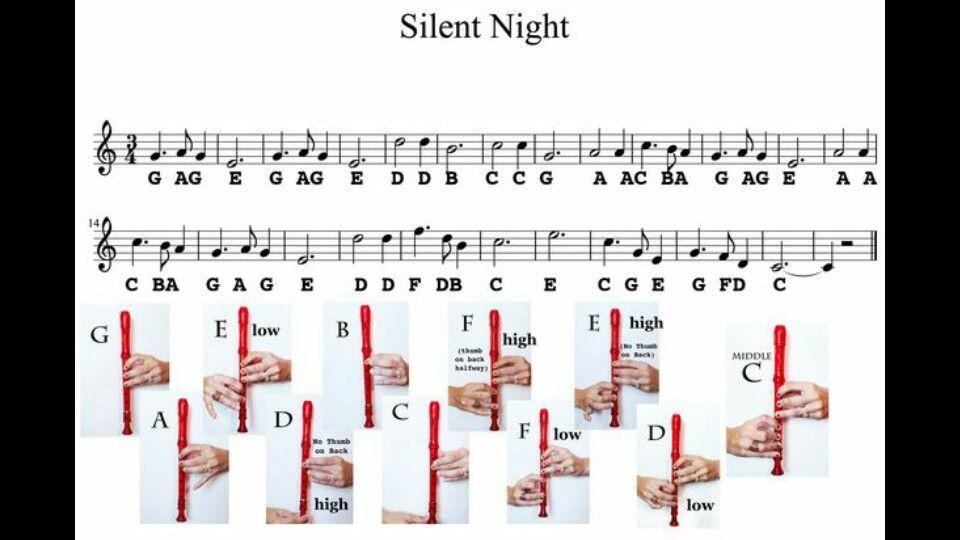 Silent Night Recorder Music Recorder Sheet Music Recorder Songs