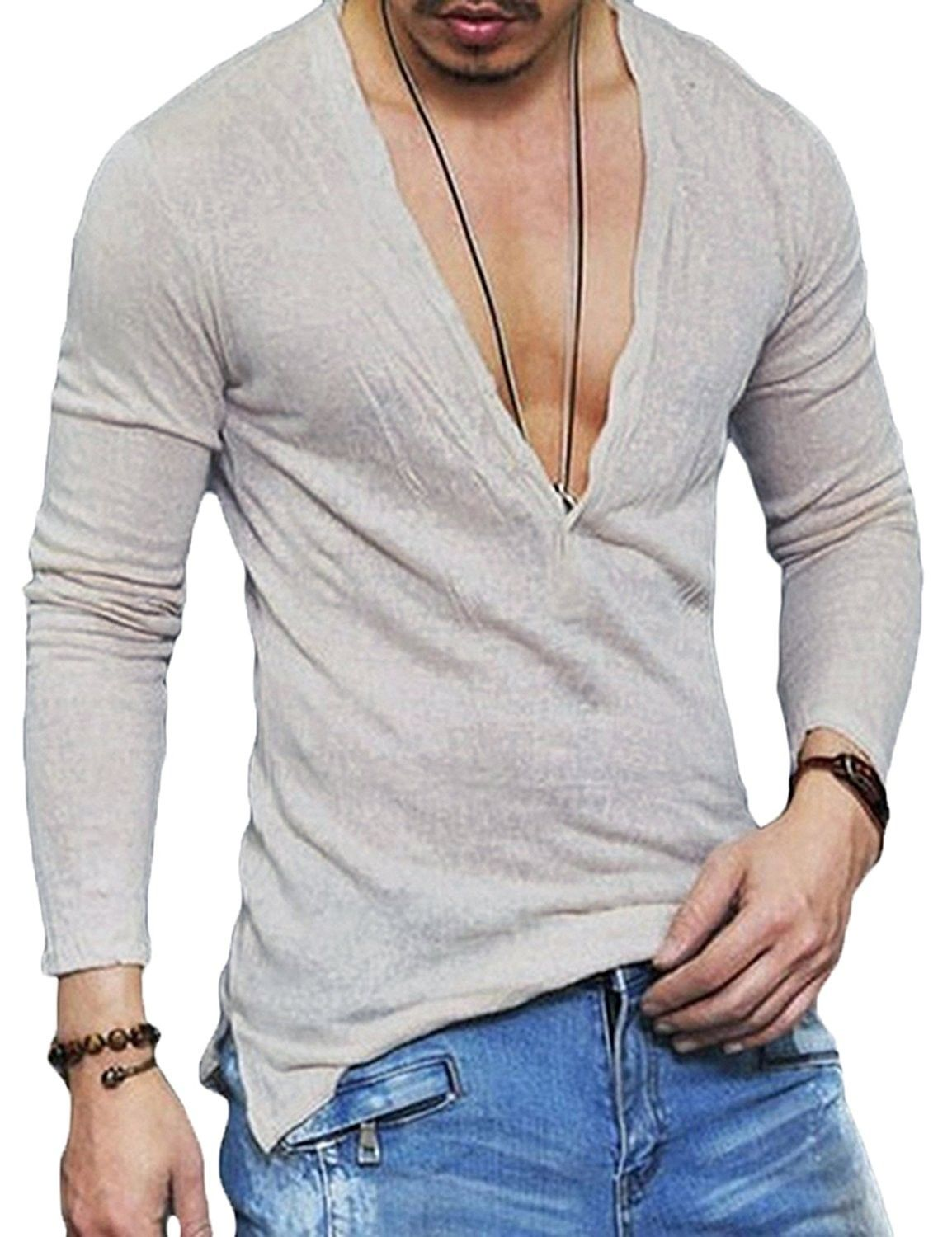 Men Slim Fit Thin Hoodie Pullover Long Sleeve Pocket Casual Tops Solid Blouse