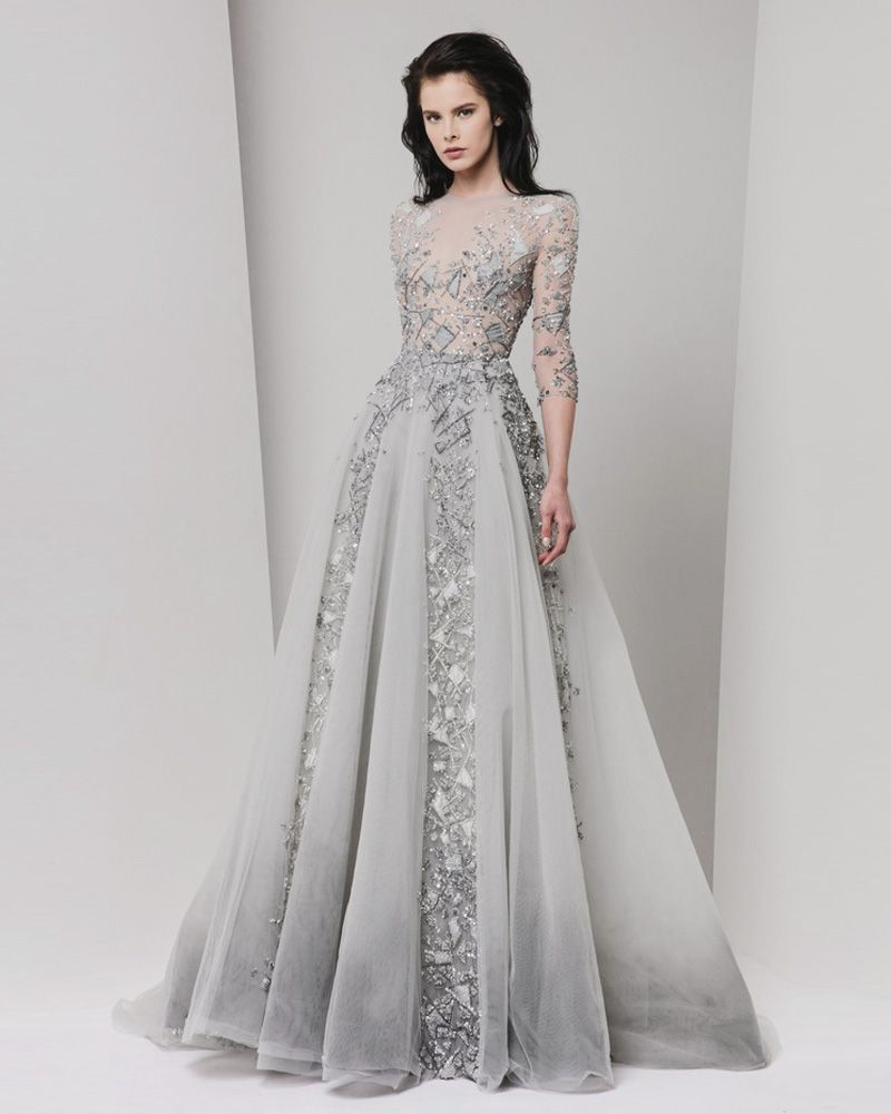 Unique Wedding Dresses With Color: 22 Effortlessly Dreamy Grey Wedding Dresses For The