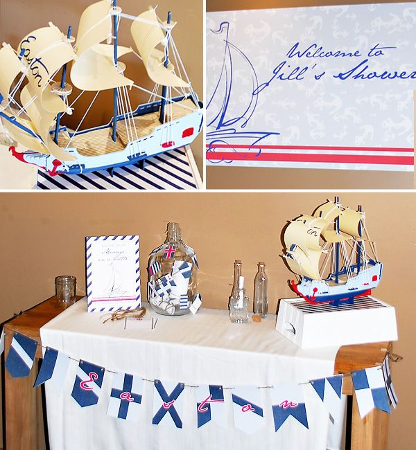 vintage nautical baby shower by honeycomb events  design {model, Baby shower invitation