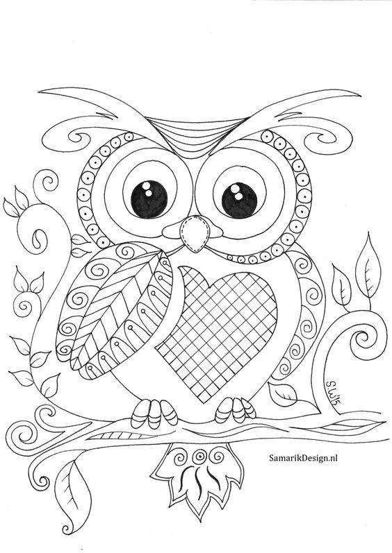 Lyubov Sotova Owl Coloring Pages Coloring Books Coloring Pages