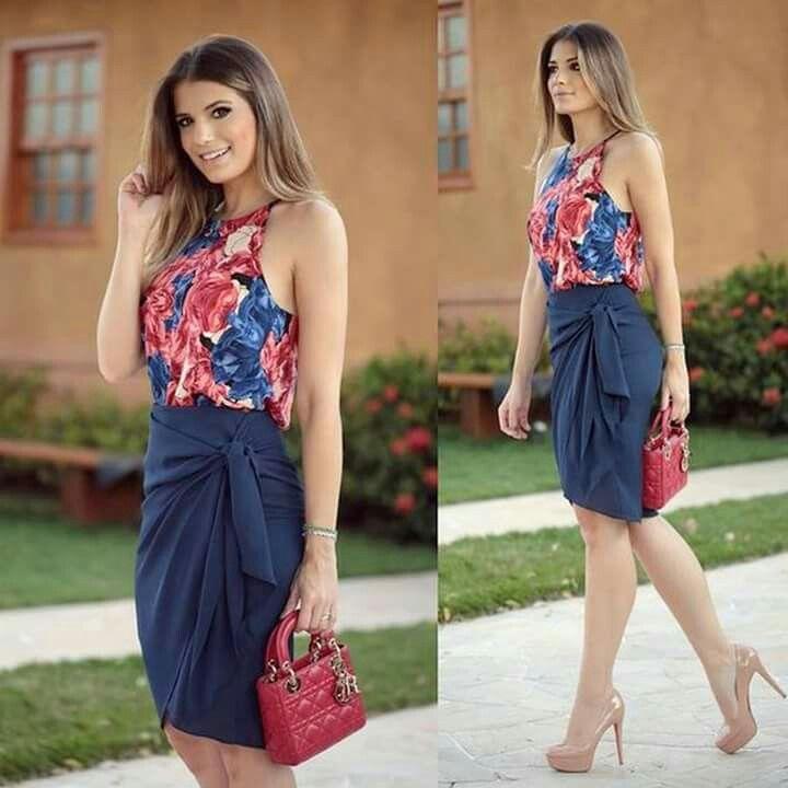 5dd715b2d Conjunto | blusa halter en 2019 | Moda, Vestidos y Ropa