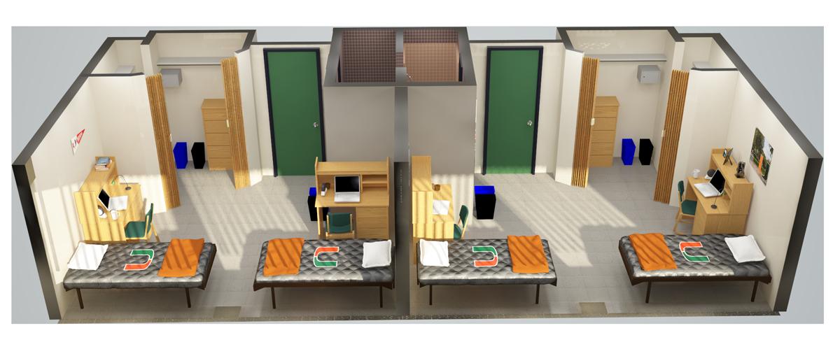 Miami University Dorm Room Dimensions